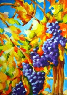 """""""Vine Ripe"""" original fine art by JoAnne Perez Robinson"""