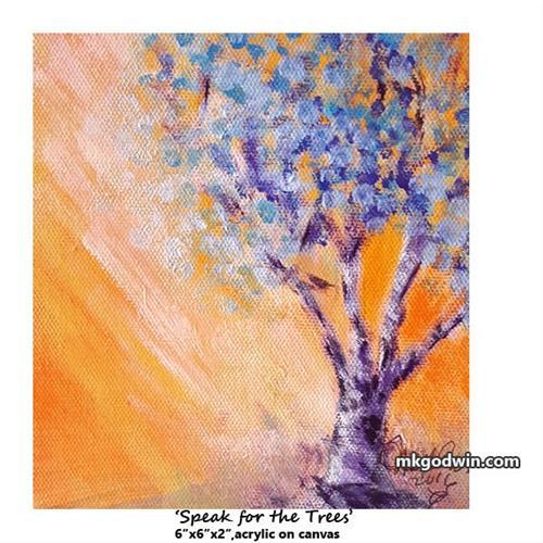 """""""Speak for the Trees"""" original fine art by Marie K Godwin"""