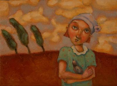 """Yard Bird"" original fine art by Brenda York"