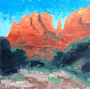 """Cathedral Rock"" original fine art by Rachel  Holland"