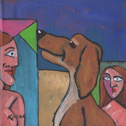 """Studio Dog"" original fine art by George Kocar"