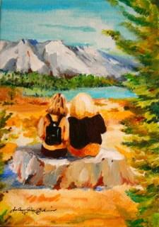 """BFFS"" original fine art by JoAnne Perez Robinson"