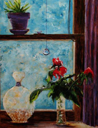 """At The Window"" original fine art by Nan Johnson"