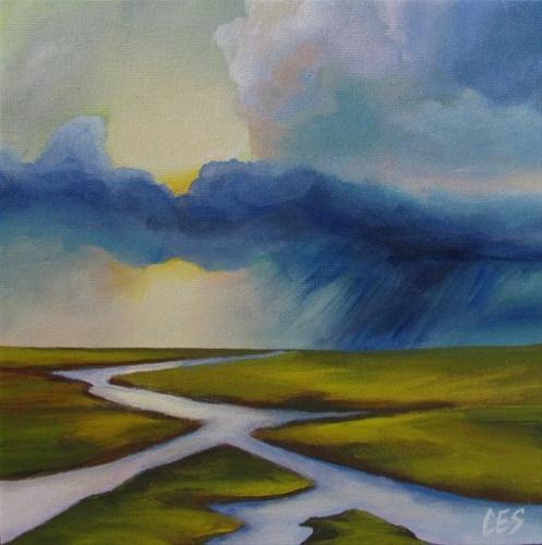 """Summer Rain"" original fine art by ~ces~ Christine E. S. Code"