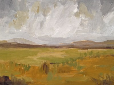 """Golden Landscape"" original fine art by Pamela Munger"