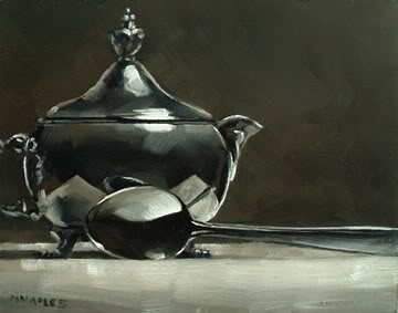 """Chrome Creamer with Spoon"" original fine art by Michael Naples"