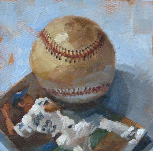 """Here's The Pitch"" original fine art by Karen Werner"