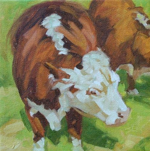 """More Cows"" original fine art by Susan Ashmore"