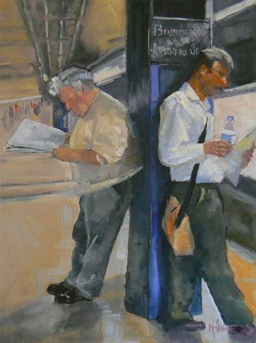 """Morning Commute"" original fine art by Carol Schiff"