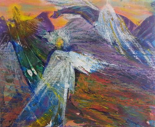 """Rising Up"" original fine art by Becky Chappell"