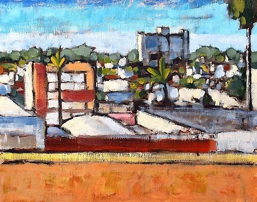 """""""Hillcrest Skyline, San Diego"""" original fine art by Kevin Inman"""
