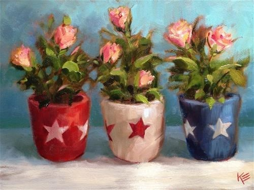 """""""Independently Beautiful"""" original fine art by Krista Eaton"""