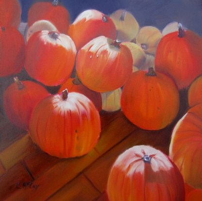 """""""Afternoon Delight, Oil Painting by Linda Mccoy"""" original fine art by Linda McCoy"""