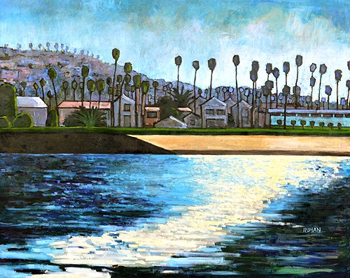 """Ocean Beach Painting"" original fine art by Kevin Inman"