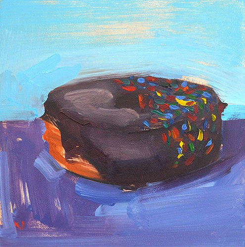 """Sprinkle Donut"" original fine art by Kevin Inman"