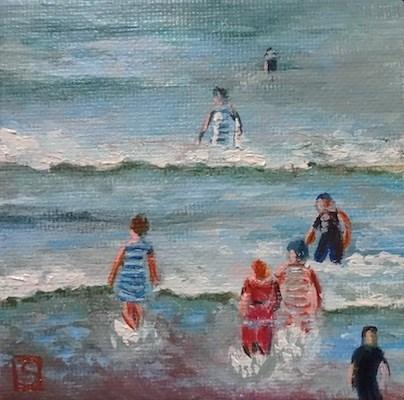 """4109 - Beside the Sea 1902 - Mini Master Series"" original fine art by Sea Dean"