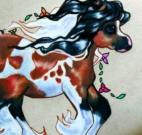 """Gypsy Whimsy"" original fine art by Crystal Cook"