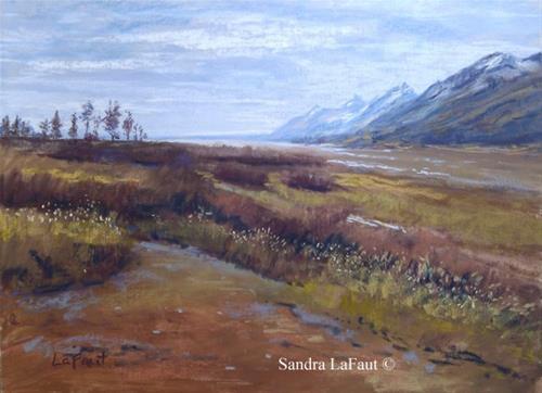 """Shimmering Teton Plains"" original fine art by Sandra LaFaut"