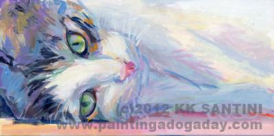 """Stanley"" original fine art by Kimberly Santini"