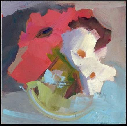 """""""2542 Nodding"""" original fine art by Lisa Daria"""