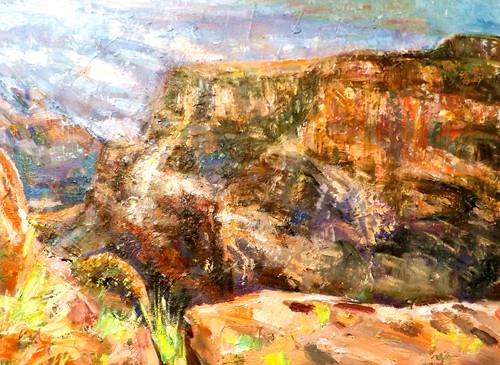 """GRAND CANYON 3"" original fine art by Run-      Zhang Zane"