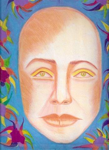 """Self Portrait after a Long Illness"" original fine art by Terri Brown-Davidson"