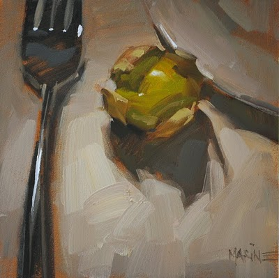 """Side Tomatillo"" original fine art by Carol Marine"