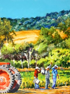"""To Market"" original fine art by JoAnne Perez Robinson"