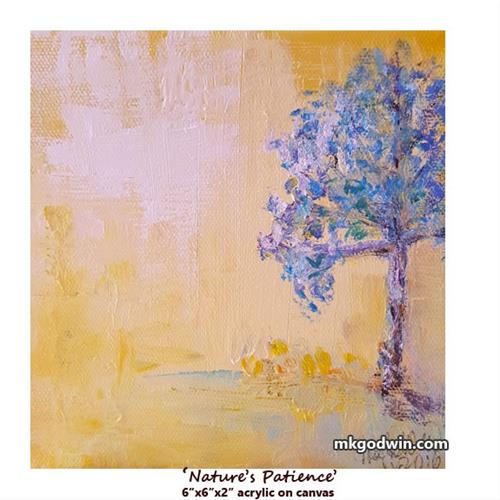 """Nature's Patience"" original fine art by Marie K Godwin"