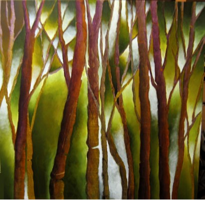 """Green Woods"" original fine art by Anne Ducrot"