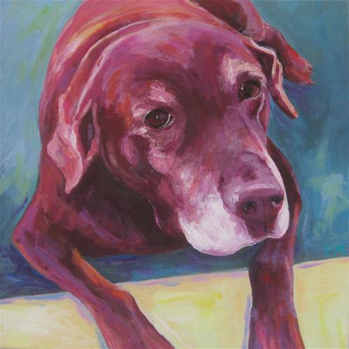 """Bailey"" original fine art by Patricia MacDonald"