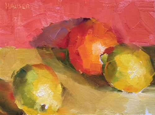 """Citrus"" original fine art by Alice Hauser"