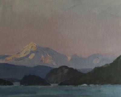 """""""Mt Baker Sunset"""" original fine art by Susan Hammer"""