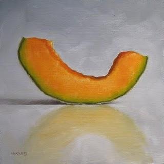 """Cantaloupe Slice"" original fine art by Michael Naples"