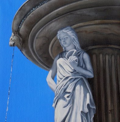 """Fountain Beauty 3 - Private Commission"" original fine art by Jelaine Faunce"