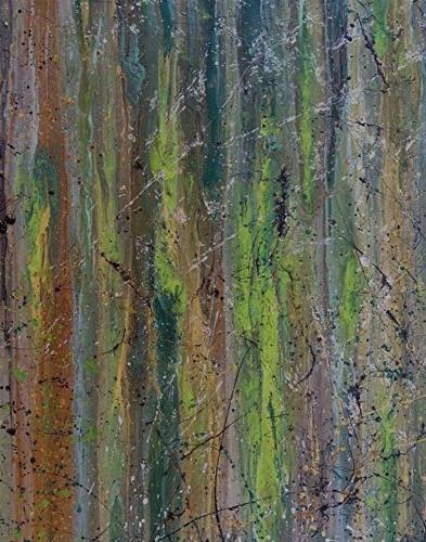 """Contemporary Abstract Expressionism Painting Organic Abstracts-Green #2 by Colorado Contemporary A"" original fine art by Kimberly Conrad"