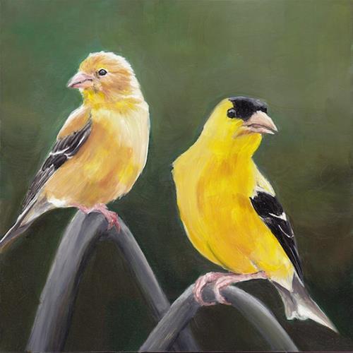 """""""Golden Pair"""" original fine art by Charlotte Yealey"""
