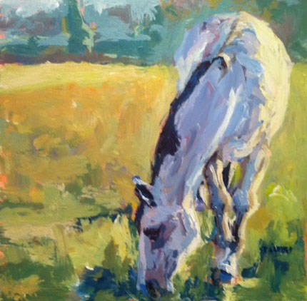 """in the pasture"" original fine art by Shelley Garries"
