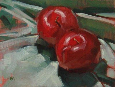 """""""Getting Cozy"""" original fine art by Carol Marine"""