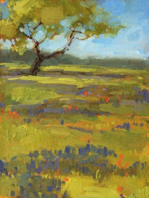 """Field of Blue"" original fine art by Laurel Daniel"