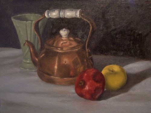 """Copper Teapot"" original fine art by Amy VanGaasbeck"
