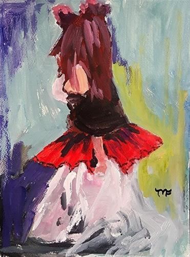 """Dress up"" original fine art by Mechele Flowers"