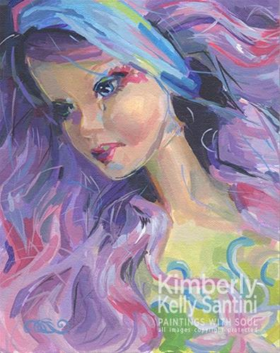"""Even Fairies Cry"" original fine art by Kimberly Santini"