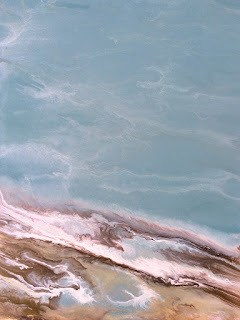 """Abstract Seascape, Ocean Coastal Living Decor, A Song From The Sea by Colorado Contemporary Artist"" original fine art by Kimberly Conrad"