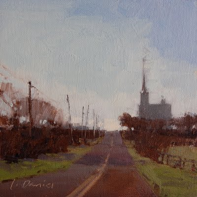 """6 Inch Squared Exhibition - Randy Higbee Gallery!"" original fine art by Laurel Daniel"