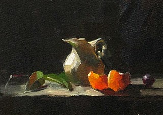"""Orange Crystals --- Sold"" original fine art by Qiang Huang"
