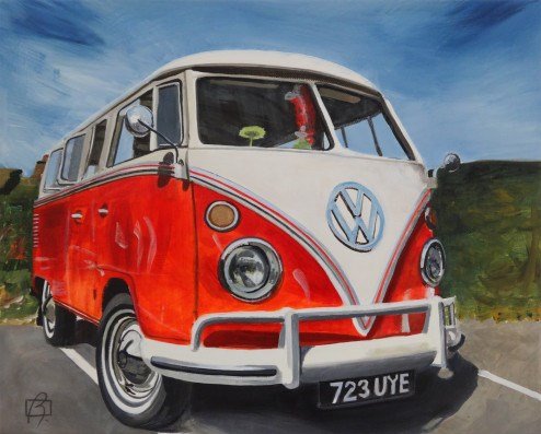 """VW Bus"" original fine art by Andre Beaulieu"