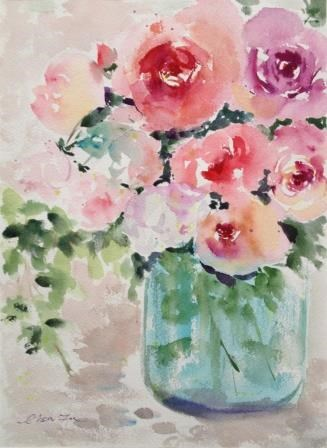 """Winter Blooming too"" original fine art by Lisa Fu"
