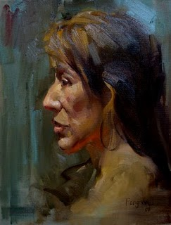 """Head sketch"" original fine art by Fongwei Liu"