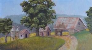 """Mountain Farm"" original fine art by Robert Frankis"